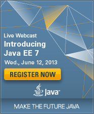 Java EE 7 launch graphic