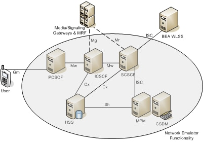 Main components of IP Multimedia Subsystem