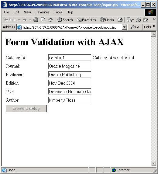 Validating Forms with Ajax
