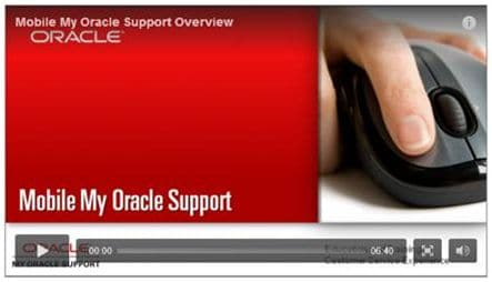 My Oracle Support introduction video