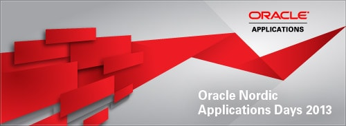 Oracle Nordic Applications Day 2013, Oslo