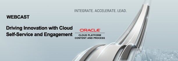 WEBCAST Driving IT Innovation with Cloud Self-Service and Engagement