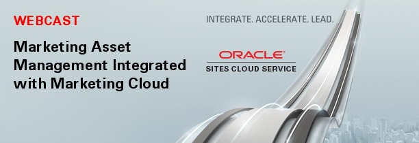WEBCAST Marketing Asset Management Integrated with Marketing Cloud