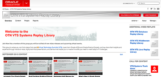 OTN VTS Systems Replay Library