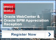 Oracle WebCenter and Oracle Business Process Management Customer Appreciation Reception