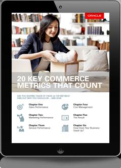 Oracle Commerce 20 metrics