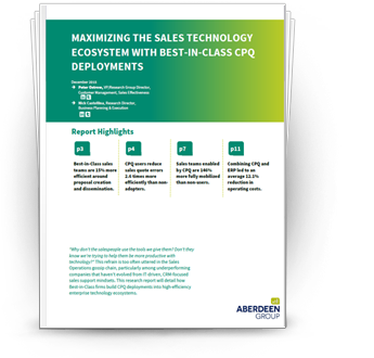 Maximizing the Sales Technology Ecosystem with Best-In-Class CPQ Deployments