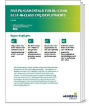 Five Fundamentals for Building Best-in-Class CPQ Deployments