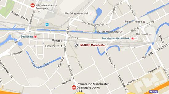 Innside Hotel Map