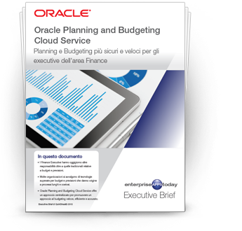 Oracle Planning and Budgeting Cloud Service