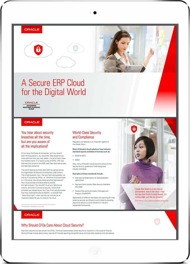 Read a Secure ERP Cloud for the Digital World