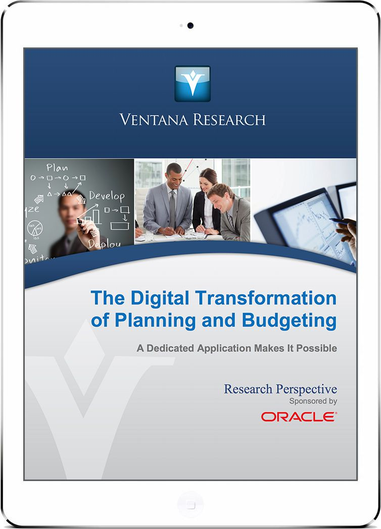 The Digital Transformation of Planning and Budgeting