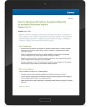 How to Develop Workforce Analytics Maturity to Increase Business Impact