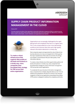 Aberdeen Group Supply Chain Product Informaton Management in the Cloud