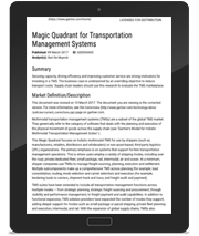 Gartner Magic Quadrant TMS
