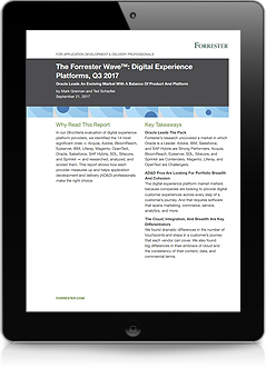 The Forrester Wave™: Digital Experience Platforms, Q3 2017