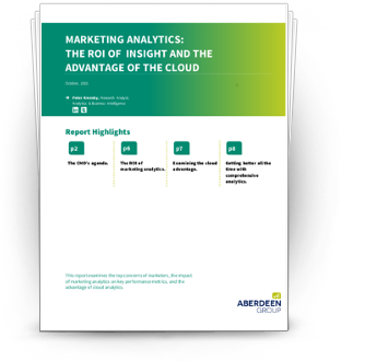 Marketing Analytics: The ROI of Insight and The Advantage of the Cloud