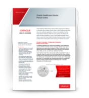Oracle Healthcare Master Person Index Datasheet