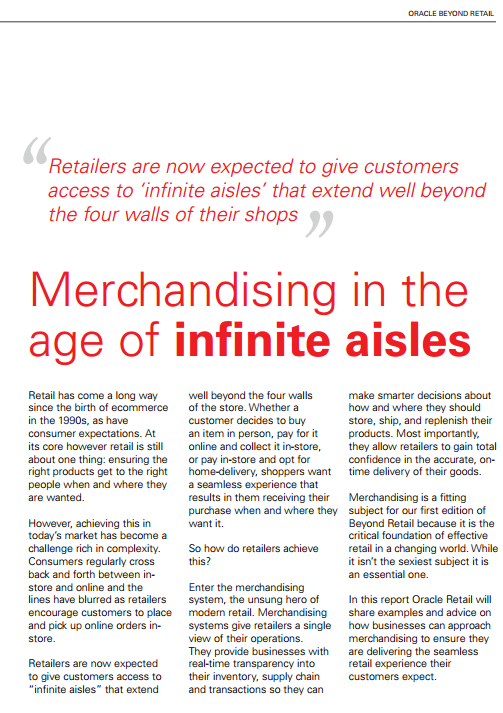 Merchandising in the Age of Infinite Aisles