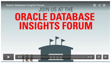 Oracle Database Insights Forum Video