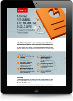 Annual Reporting and Narrative Disclosure. A guide for the modern finance leader