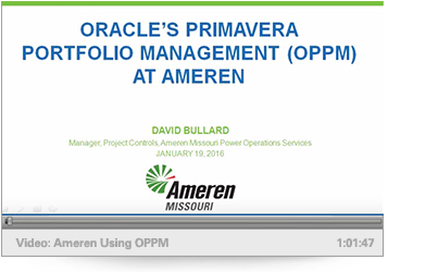 Video: Ameren Using Oracle's OPPM