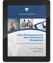 Ventana Research: Sales Planning Improves Sales Performance Management