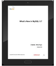 白皮书: MySQL 5.7中的新增功能