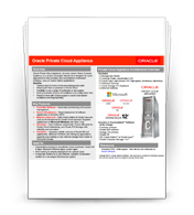 Oracle Private Cloud Appliance Quick Reference Guide
